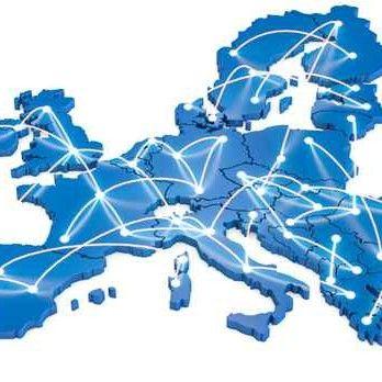 mapa połączeń europejskich