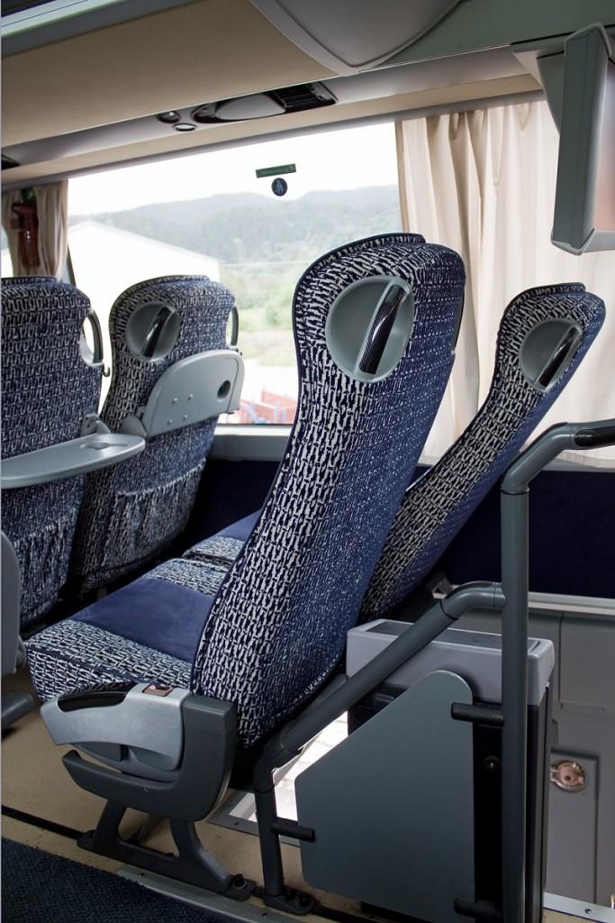 rozkładane fotele w naszym busie