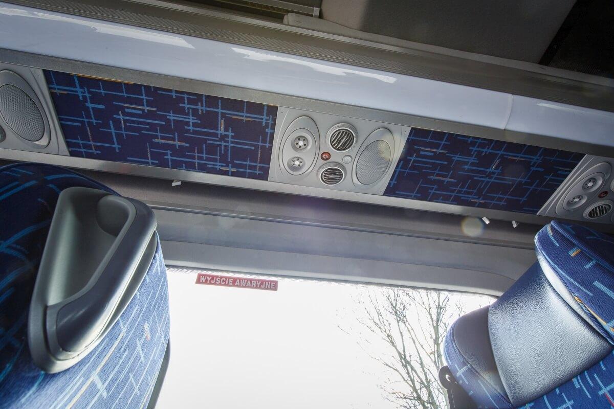 Udogodnienia dla pasażerów w mercedesie sprinter 519cdi do przewozów międzynarodowych Białystok