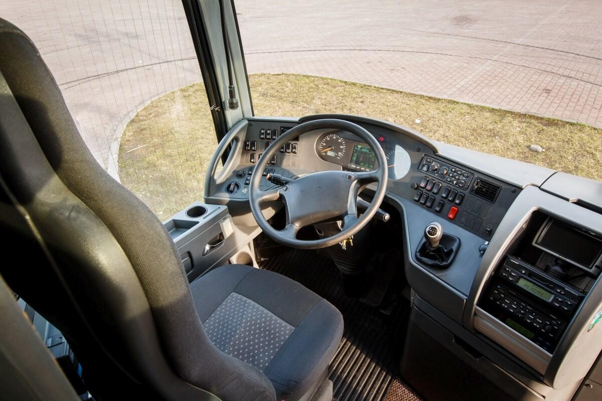 Kokpit kierowcy w busie setra 416 hdh Białystok