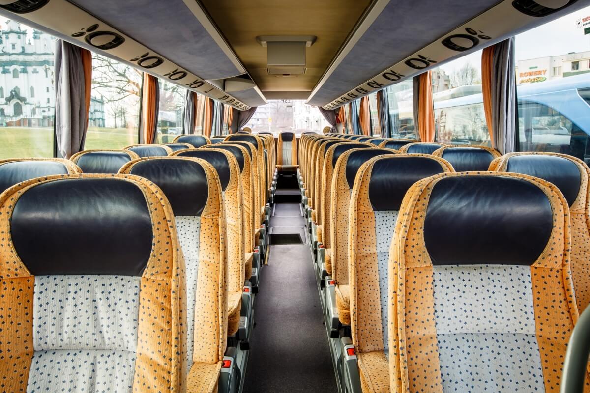 Wnętrze busa setra 416 hdh Białystok
